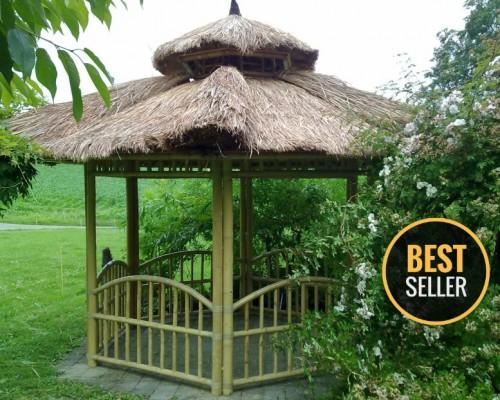 Garten Pavillon Aus Bambus Bei Bambushandel Schweiz